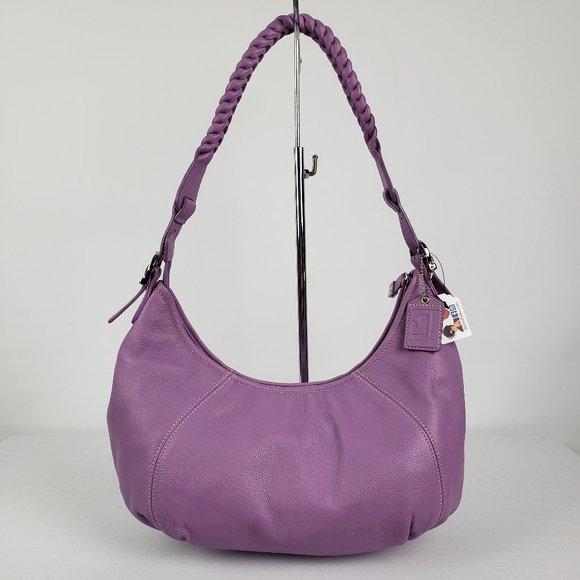 Soprano Purple Leather Hobo Purse